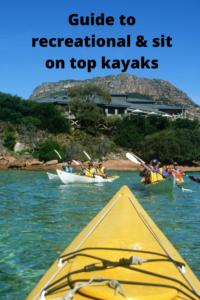 Sit on top recreational kayaks