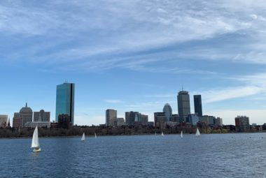 Kayaking Charles River Boston Skyline
