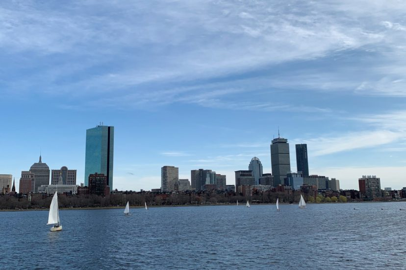 Kayaking Charles River Boston Skyline