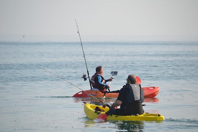 Fisherman Kayak Fishing