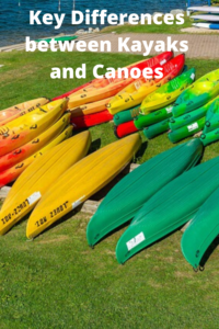 Key differences between canoe and kayaks