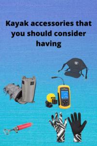 Kayak accessories info