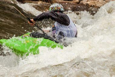 White Water Kayaking Action
